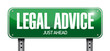 legal advice road sign illustration design