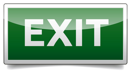 Danger exit sign solo