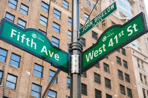 Fototapeten,new york,street sign,straße,usa