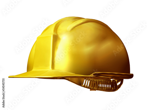 construction helmet in gold