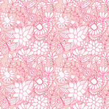 Abstract floral background, summer theme seamless pattern, vecto