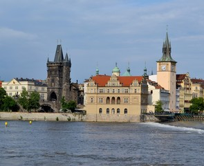 The Bedrich Smetana Museum in Prague and the mill