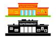 Set of supermarket
