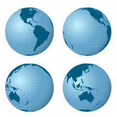 earth views pack with four positions vector