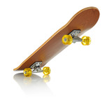 Skateboard deck on white background, isolated path included