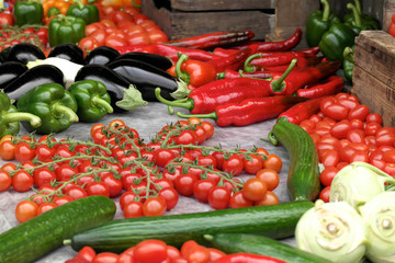 Variety of fresh produce