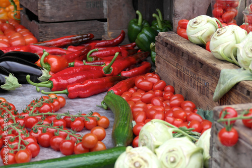 Collection of fresh produce