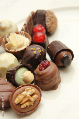 Decorated chocolates