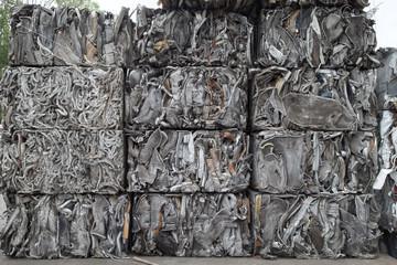 Scrap metal cubes