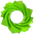 green central swirl isolated with blank circle