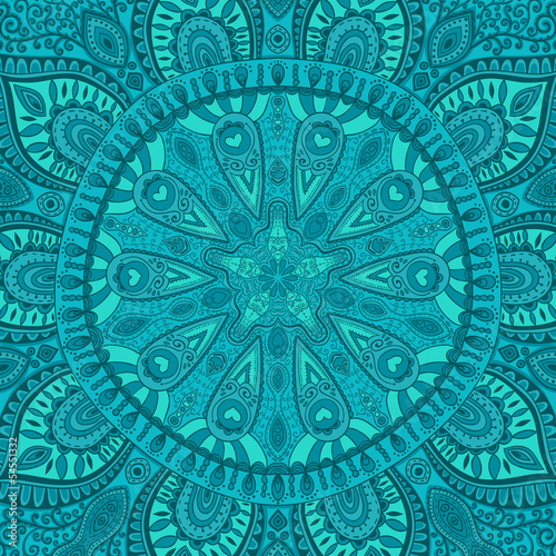 Fototapeta ornamental lace pattern, circle background with many details, lo