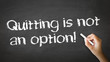 Quitting is not an Option Chalk Illustration