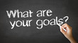 What Are your Goals Chalk Illustration