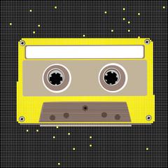 pixel art cassette