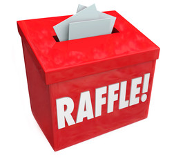 50-50 Raffle Enter to Win Box Drop Your Tickets