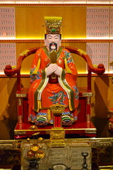 Statue in Buddha Tooth Relic Temple in China Town Singapore