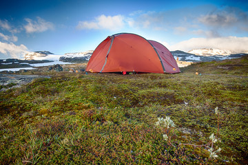 Campground in Norway - Hardangervidda