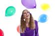 Die Traumtänzerin - junges Mädchen mit Luftballons