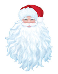 Vector of Santa with big beard isolated.