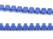 detalle de una cremallera azul
