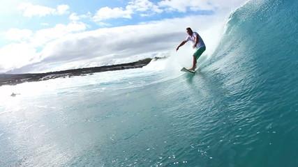 Surfer Does Turn On Wave Watershot