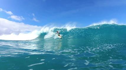 Surfer Riding Wave Watershot