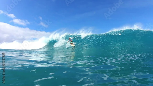 Surfer Riding Wave Watershot