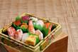 日本の寿司・握り寿司の盛り合わせ