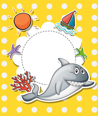 A stationery with a big gray shark