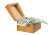 Wooden Box with Money