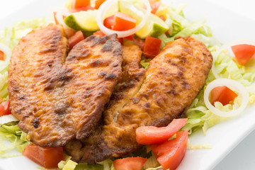 Tilapia and Salad