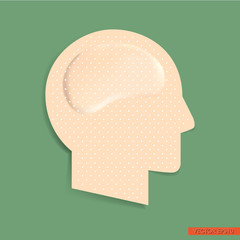 Adhesive bandage in Head Form