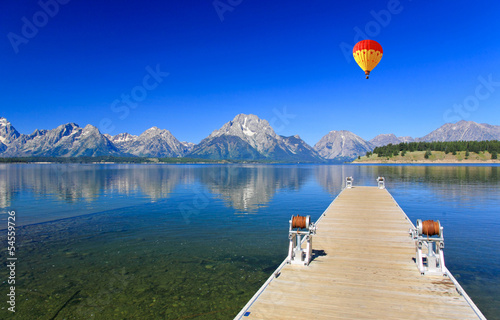 The Jackson Lake in Grand Teton