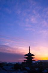 京都の夕景