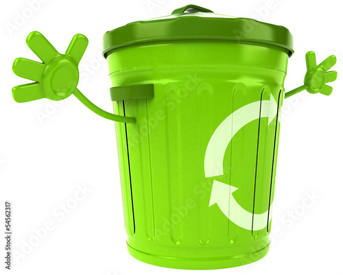 Green trash