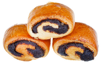 sweet small rolls with poppy seeds