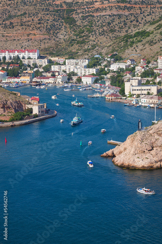 Balaklava Bay and sailing boats