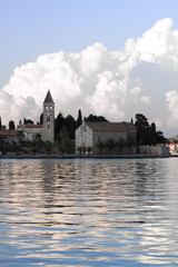 A monastery at the bay of Vis town at the Croatian island Vis