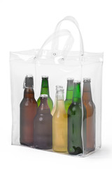 Cold Beers In Plastic Bag