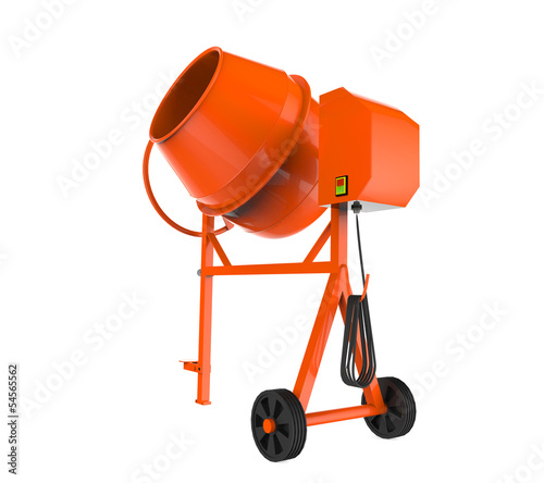 Orange Concrete Mixer