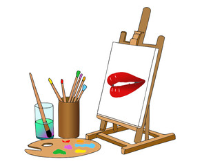 painter lips