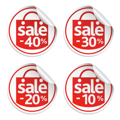 Red sticker sale of set