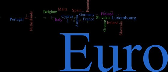 Word Cloud based around the Common European Currency