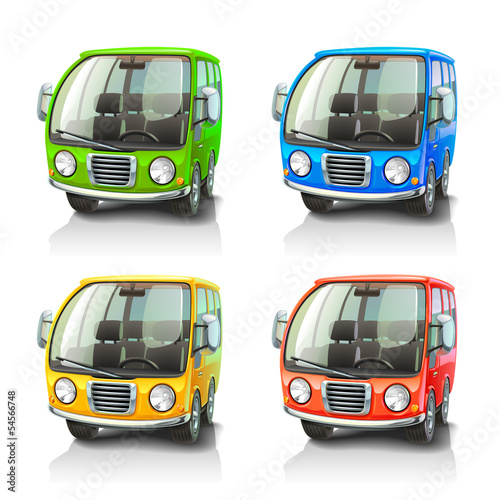 Colorful vector cars