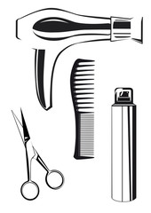 Beauty Salon Equipment icons