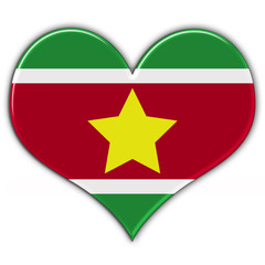 Heart with flag of Surinam