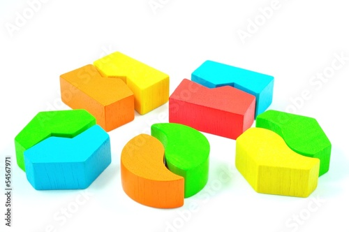Matching Blocks isolated on White Background