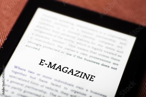 E-magazine on ebook, tablet concept - 54568327