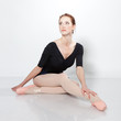 Beautiful dancer posing on a studio