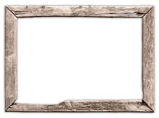 Ein alter, kaputter Holzrahmen, marode